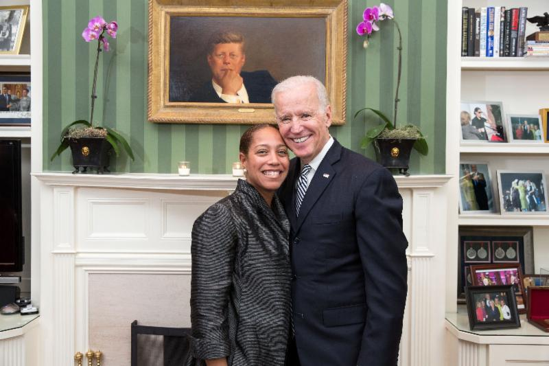 Dr. Flowers at the WHite House with Joe Biden