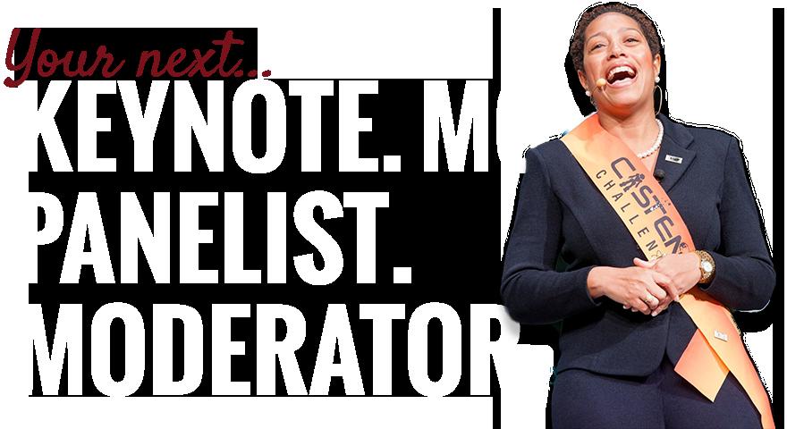 Dr. Reagan Flowers is YOUR NEXT... Keynote. MC. Panelist. Moderator.